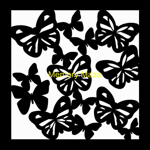 butterfly 1 template 200 x 200  (8x8)  Min buy 3